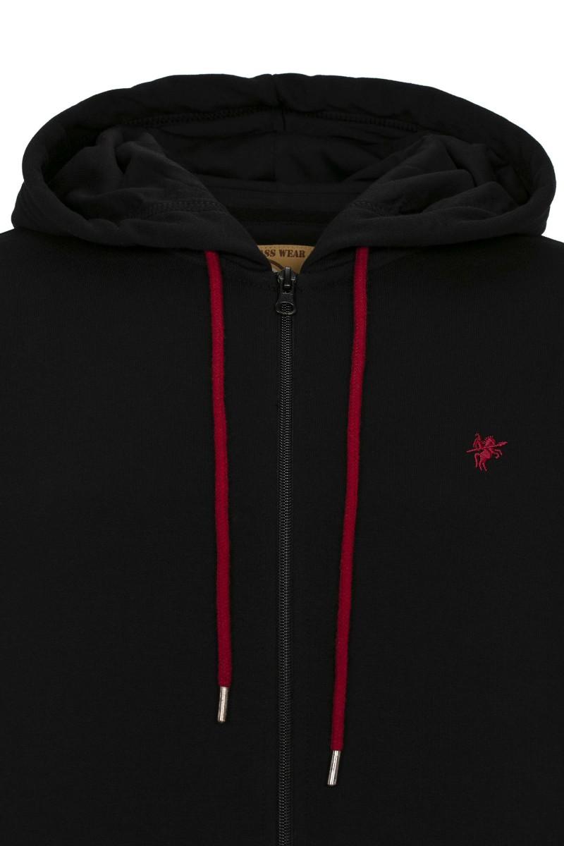 Herren Sweat Jacket BLACK