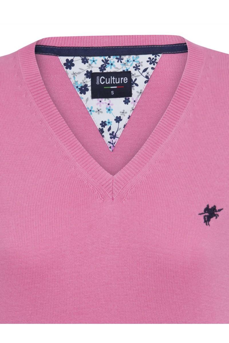 Damen Pullover DUNKEL PINK