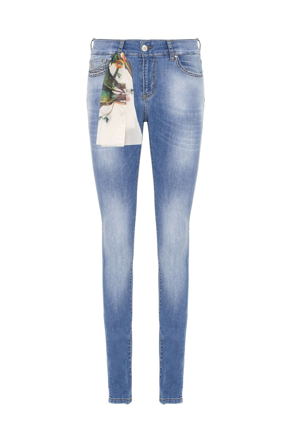 Damen Jeans Light Blue  Wash