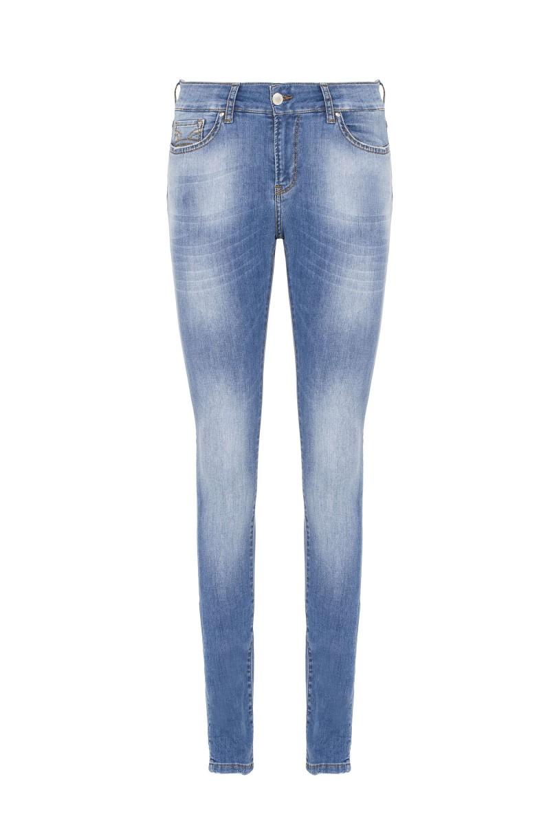 Damen Jeans Light Blue  Wash