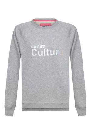 Damen Sweat GRAU MELANGE