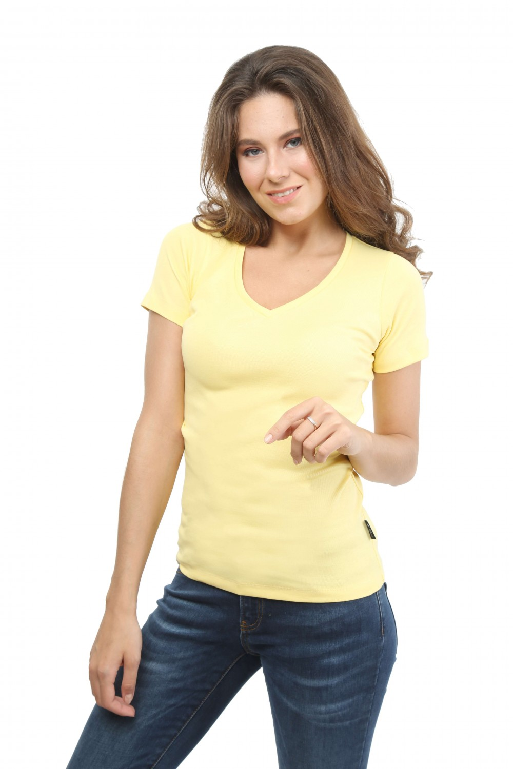 Damen T-Shirt GELB