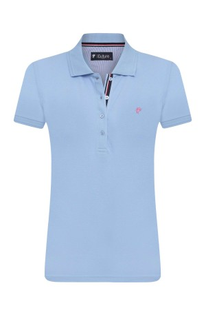 Damen Polo Shirt HELLBLAU