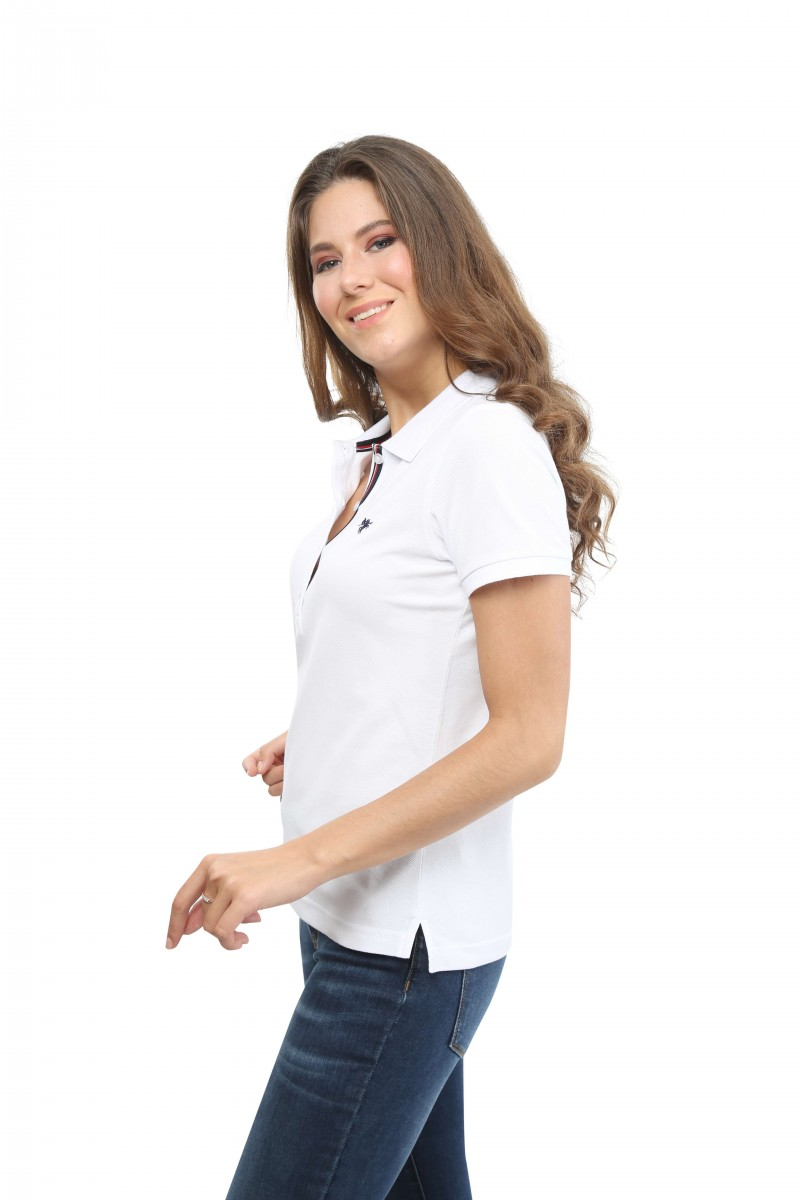 Damen Polo Shirt WEISS
