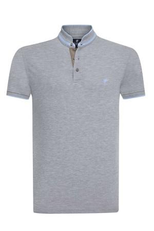 Herren Polo Shirt GRAU MELANGE