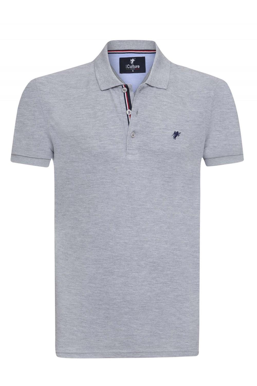Herren Polo Shirt GRAU MEL.