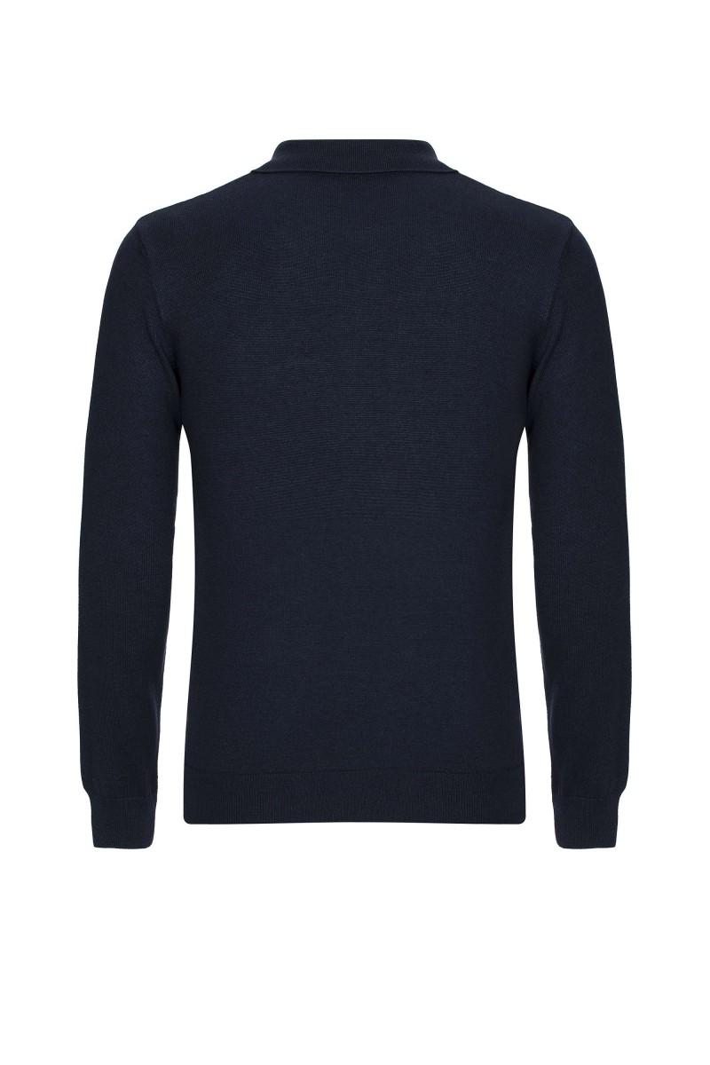 Herren Polo neck Pullover NAVY