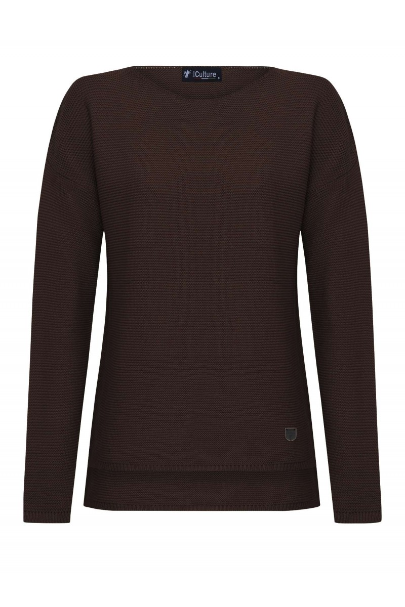Damen Links pullover BRAUN
