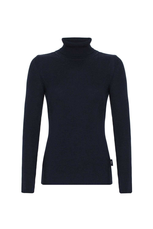 Damen Rollkragen Pullover NAVY
