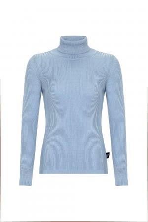 Damen Rollkragen Pullover BLAU