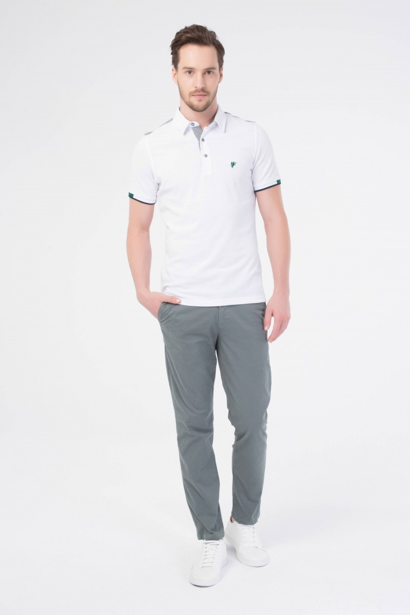 Herren Polo Shirt WEISS
