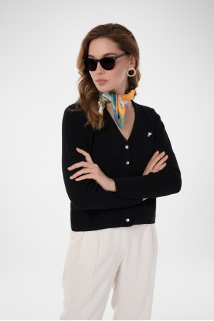 Damen Cardigan BLACK