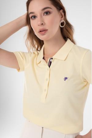 Damen Polo Shirt GELB