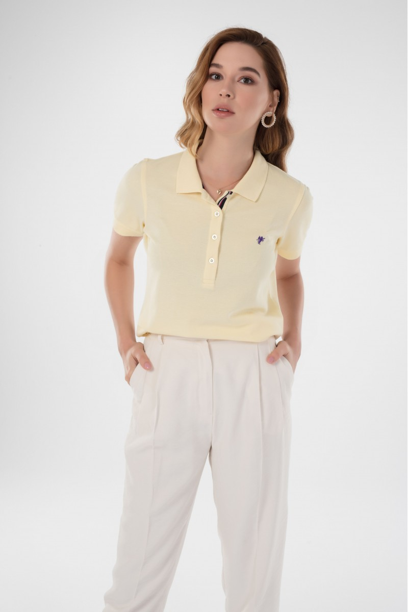 Damen Polo Shirt GELB