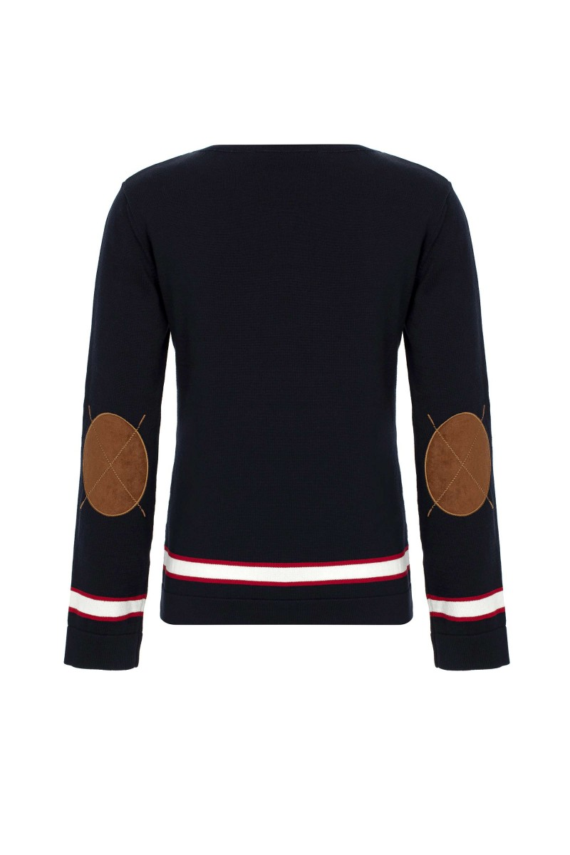 Damen  Steh Neck Pullover NAVY