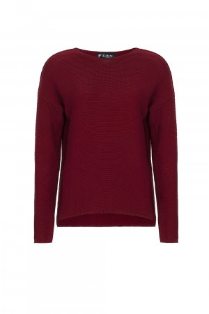 Damen Links pullover BORDOAUX