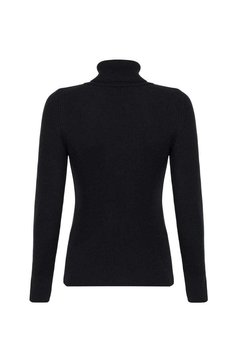 Damen Rollkragen Pullover BLACK