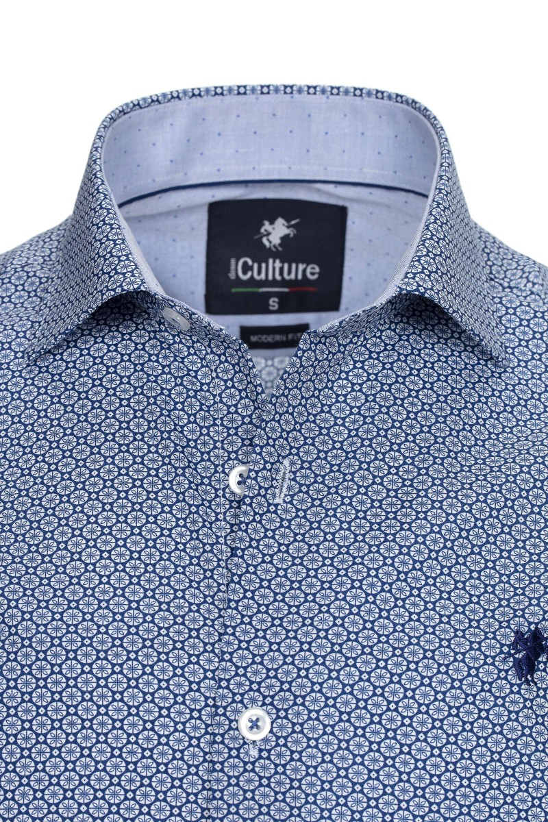 Herren Culture Hemd ROYAL ALLOVER PRINT
