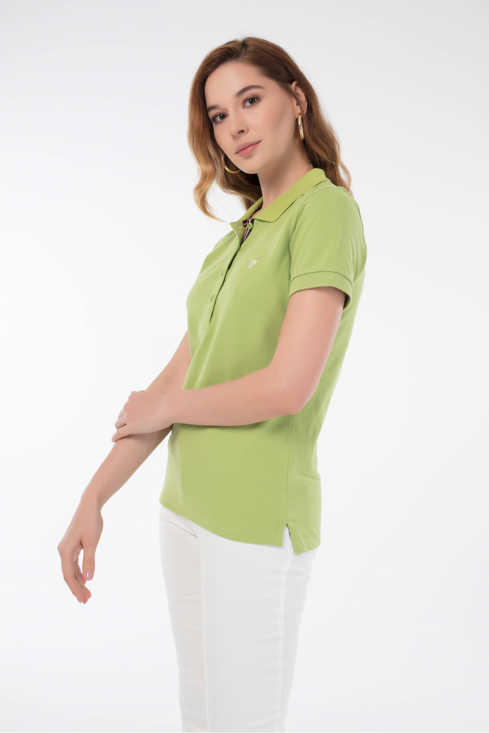 Damen Polo Shirt PISTAZIE