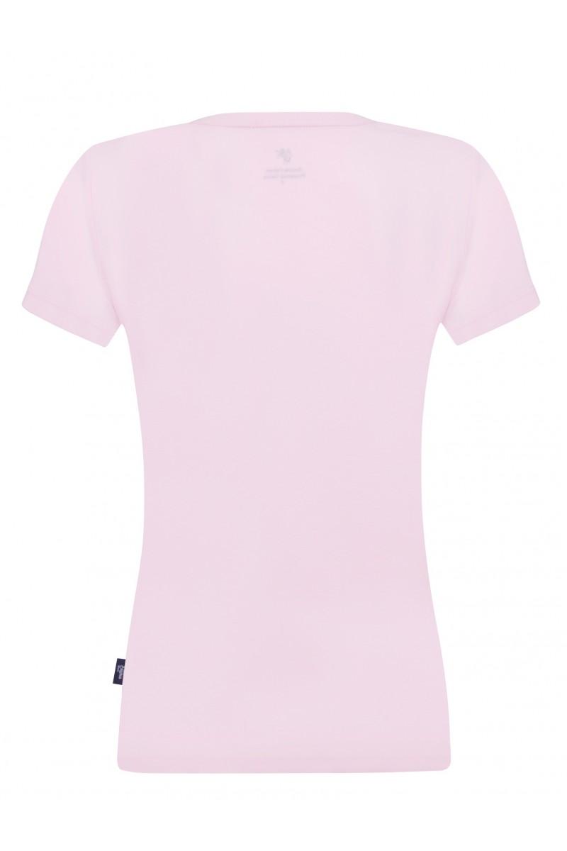 Damen T-Shirt V-Ausschnitt PUDER Baumwoll