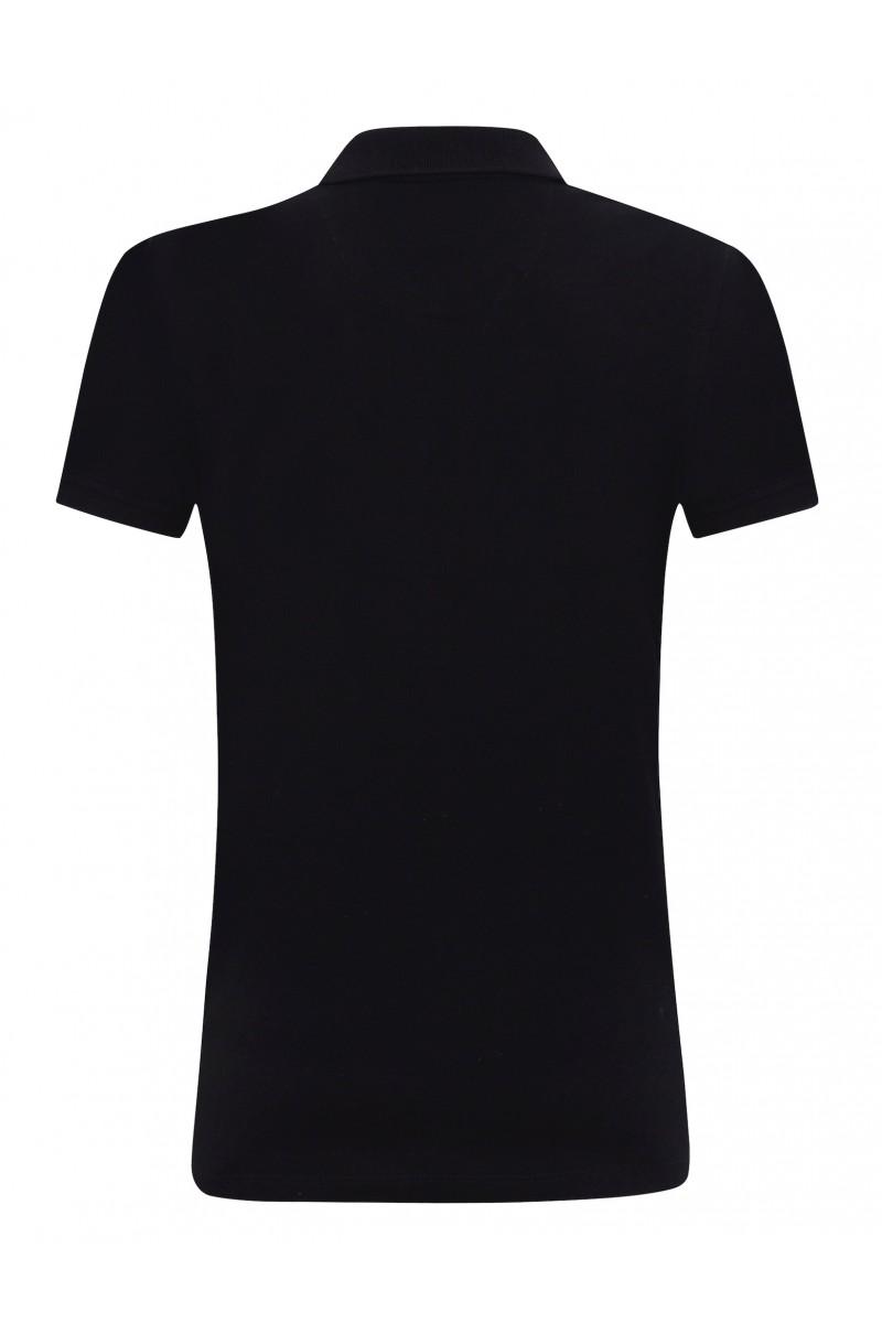 BLACK Baumwoll Poloshirt für Damen
