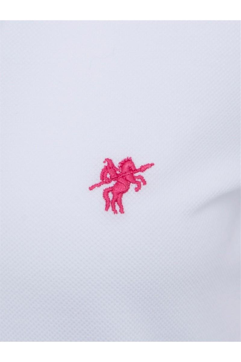 WEISS Baumwoll Poloshirt für Damen