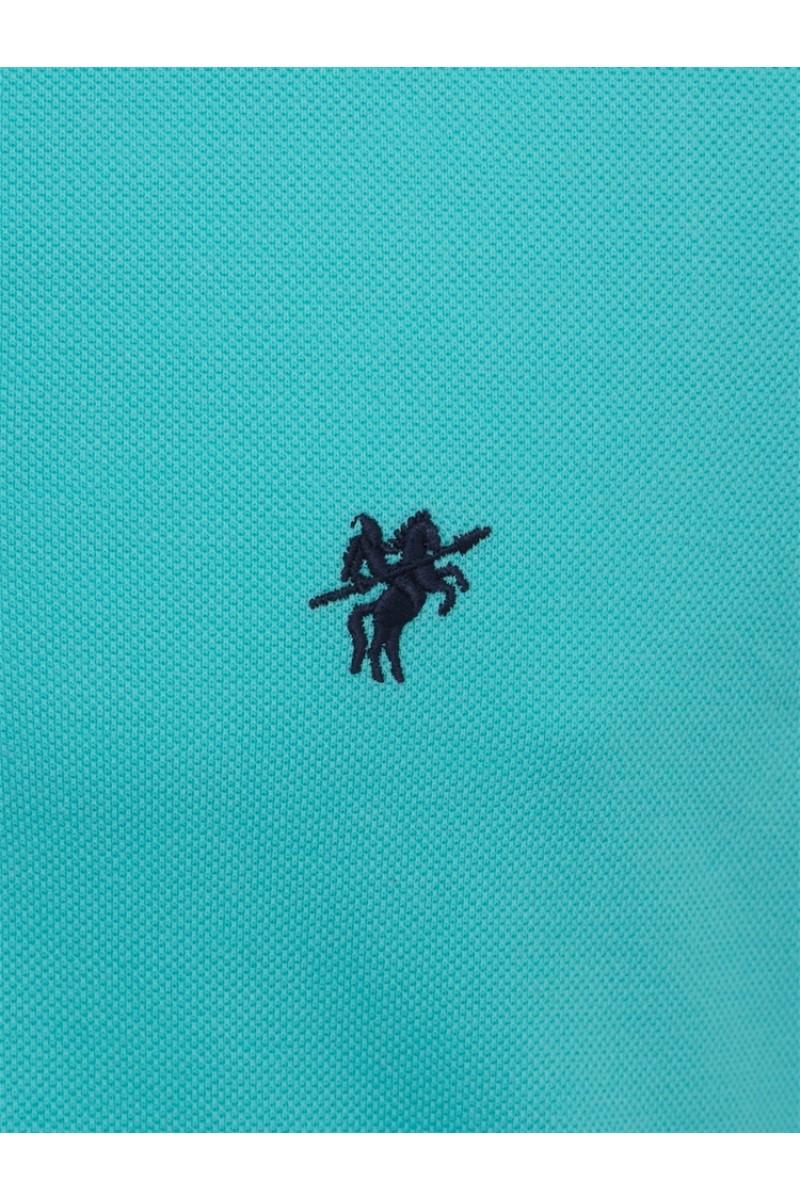 Men's Poloshirt Knitted Mint Cotton