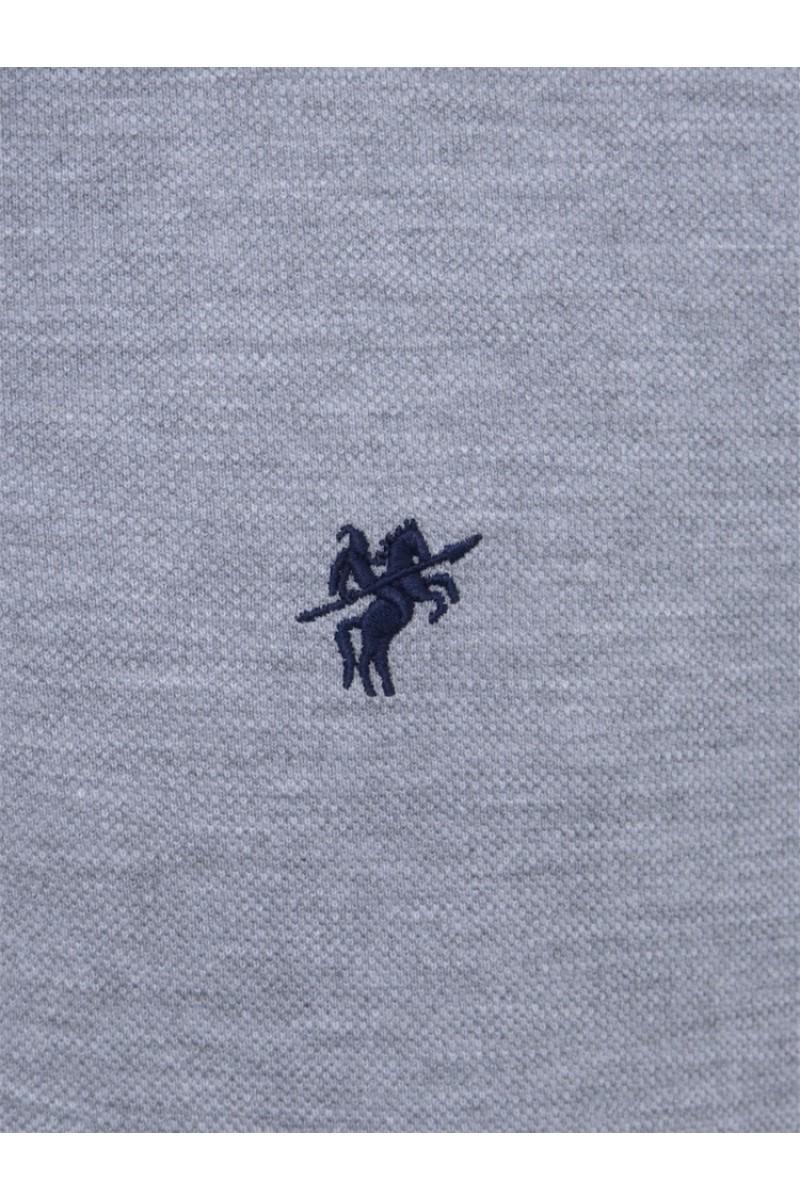 GRAU MEL. Baumwoll Poloshirt für Herren