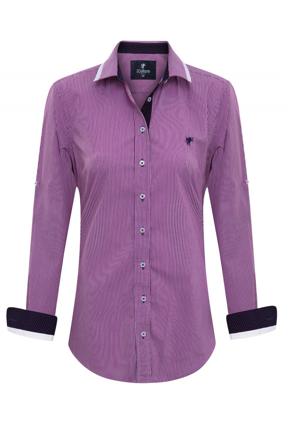 Women's Blouse D.Pink StripedBlouse Cotton