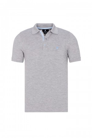 Herren Polo shirt mit hemd kiagen Fb. grau mel.