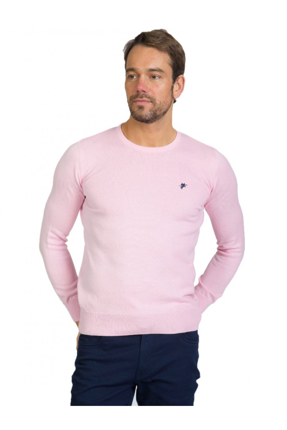 Men's Pullover  Crew Neck Powder Cotton