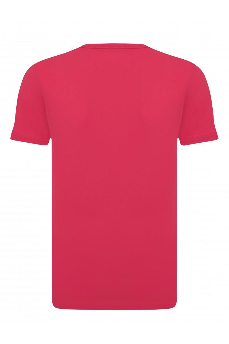 Herren T-Shirt V-Ausschnitt CORAL Baumwoll