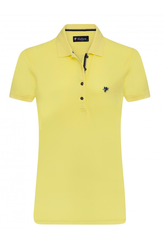 GELB Baumwoll Poloshirt für Damen