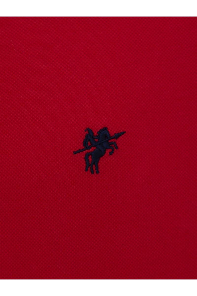 ROT Baumwoll Poloshirt für Herren