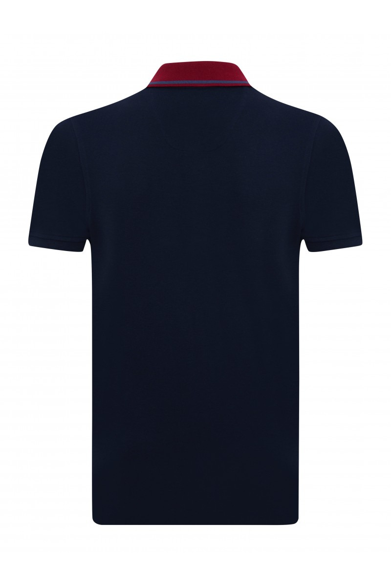 NAVY-BORDOAUX Baumwoll Poloshirt für Herren