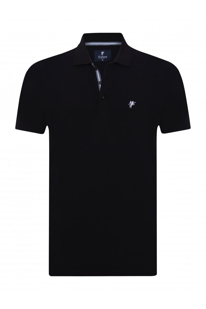 BLACK Baumwoll Poloshirt für Herren