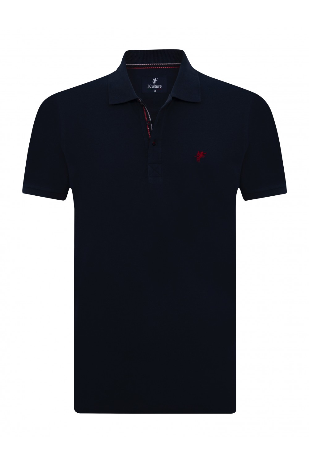 Men's Poloshirt Knitted Navy Cotton