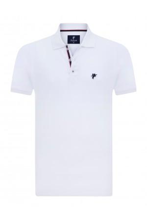 WEISS Baumwoll Poloshirt für Herren