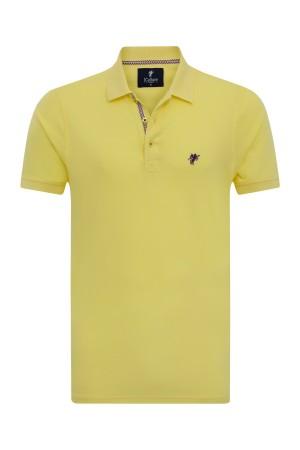 GELB Baumwoll Poloshirt für Herren