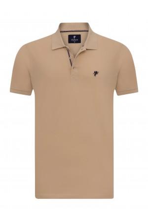 BEIGE Baumwoll Poloshirt für Herren