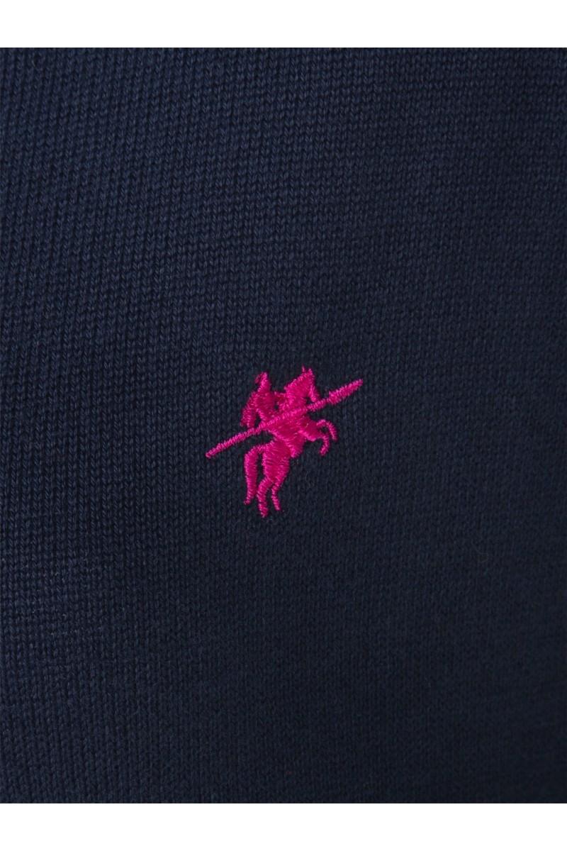 Damen Strickjacke mit Knopf V-Ausschnitt NAVY
