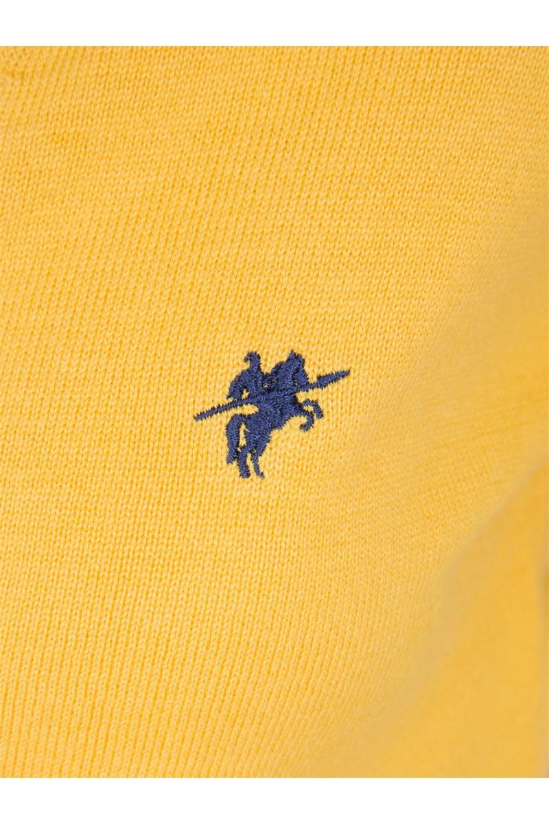 Damen Strickjacke mit Knopf V-Ausschnitt GELB