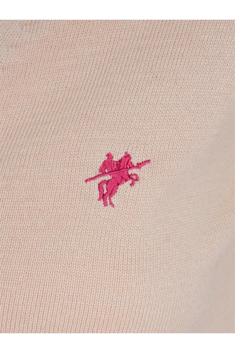 Damen Strickjacke mit Knopf V-Ausschnitt BEIGE