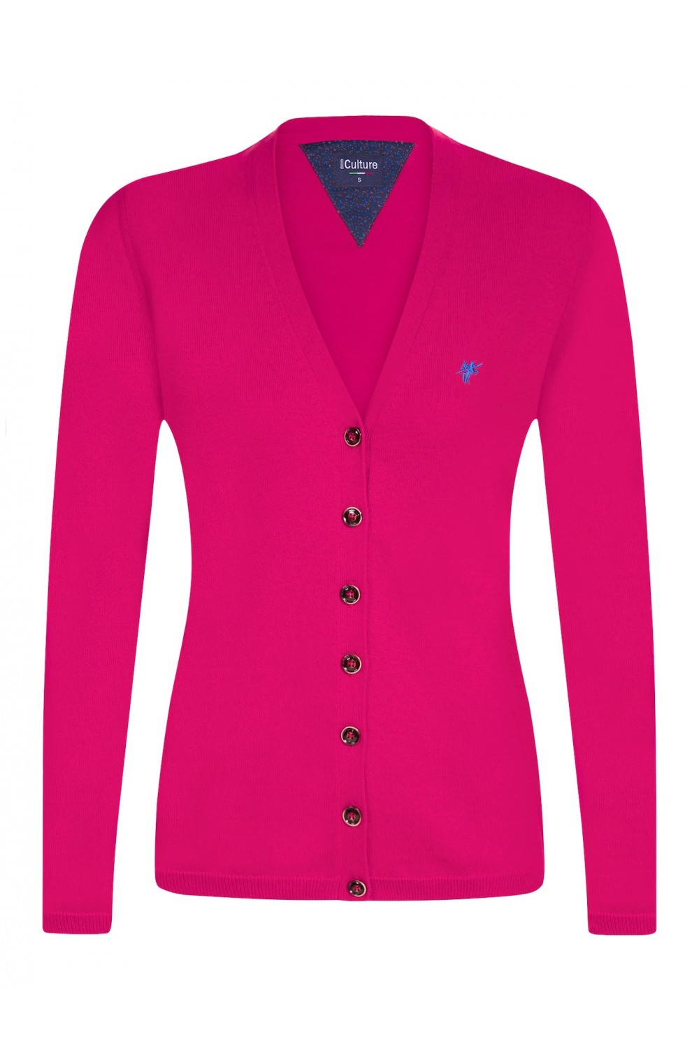 Women's Cardigan Button V-neck D.Pink