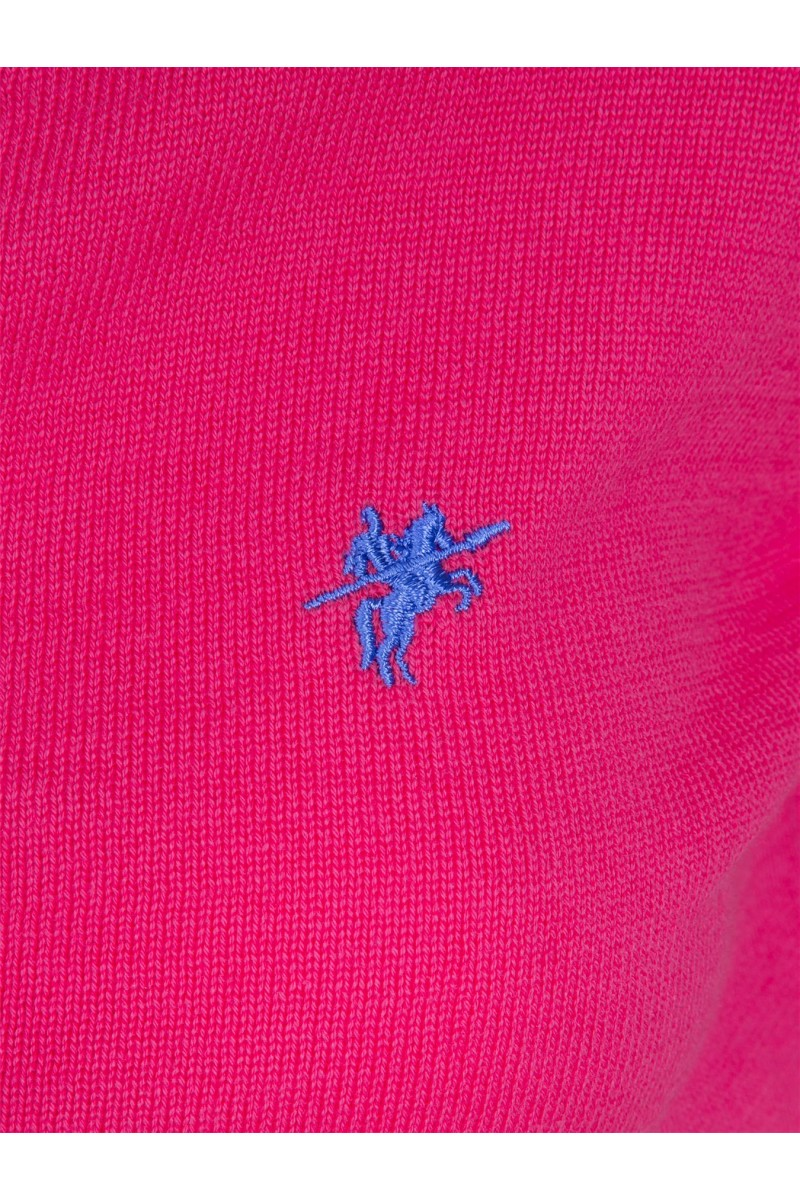 Damen Strickjacke mit Knopf V-Ausschnitt D.PINK