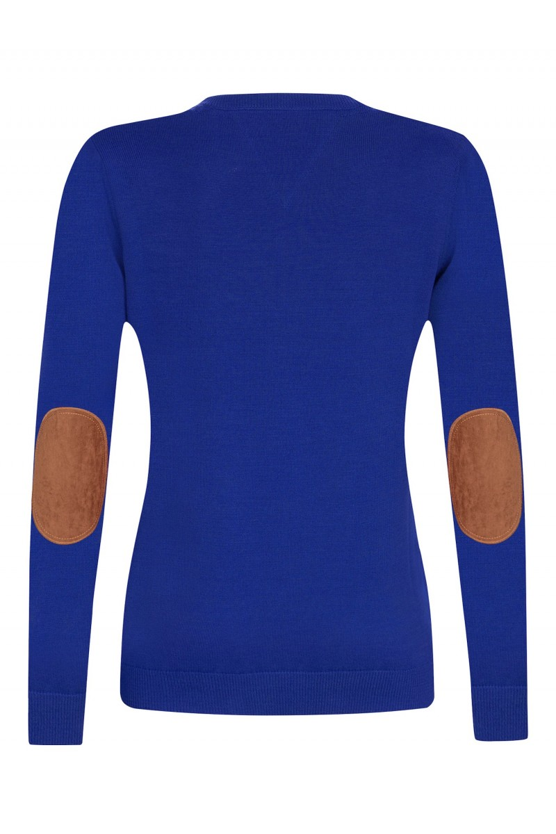 Baumwoll Pullover V-Ausschnitt ROYAL für Damen