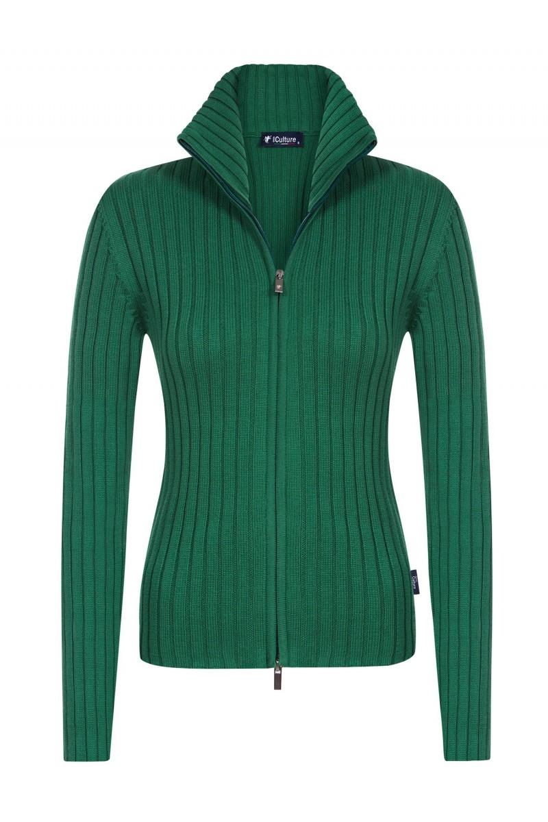 Baumwoll Pullover Stehkragen KHAKI für Damen