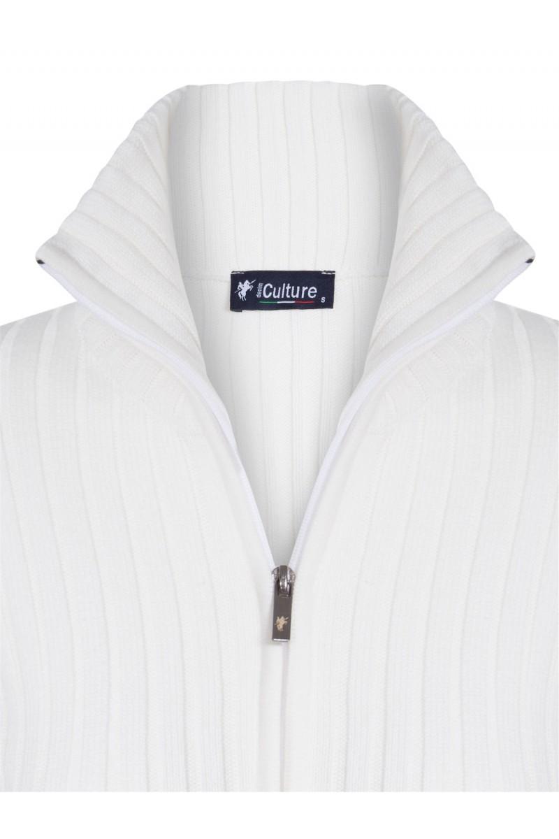 Baumwoll Pullover Stehkragen ECRU für Damen