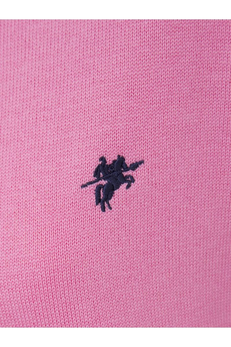 Damen Strickjacke mit Knopf V-Ausschnitt DUNKEL PINK
