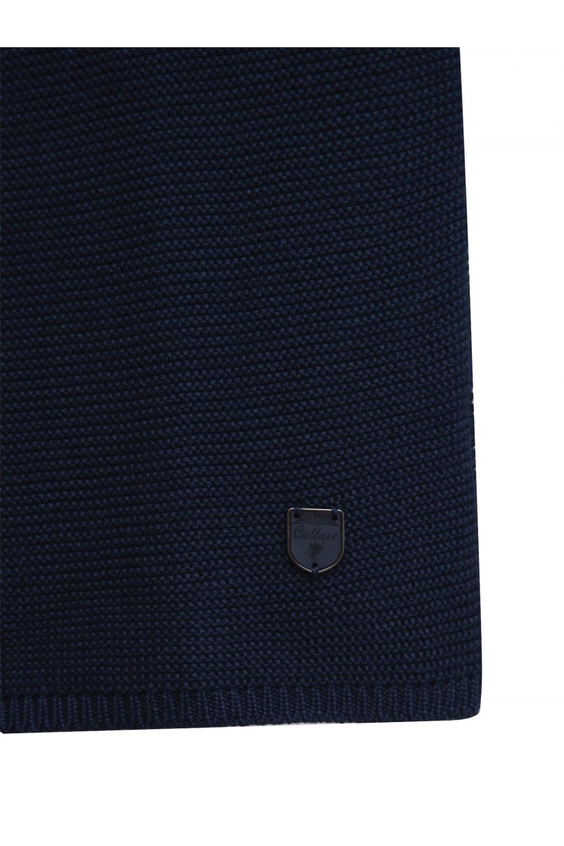 Women's Cardigan Button Crew Neck Navy